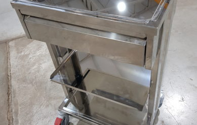 Stainless steel medical table