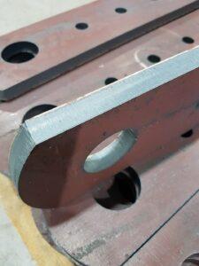 Conveyor chain links and conveyor and conveyor parts